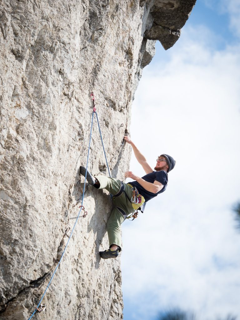 Climbing in Osp, Slowenia