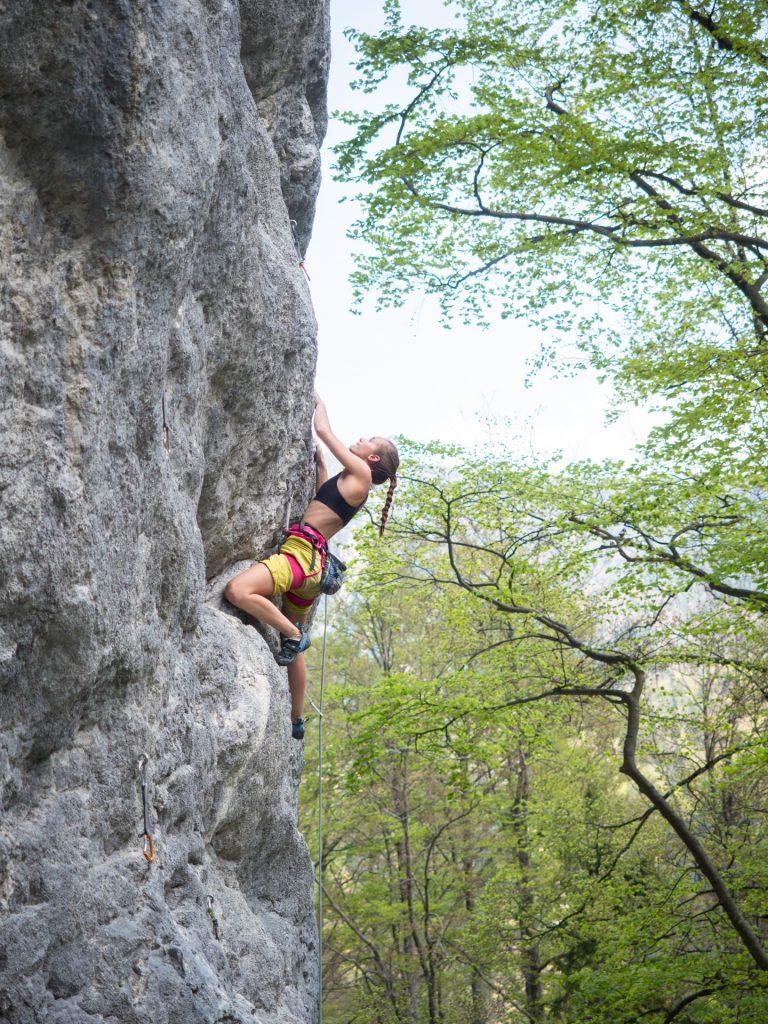 """Climbing """"Sonnenblume"""" (7a) in Kochel"""